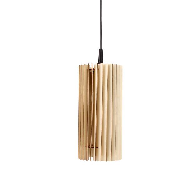 Holzlampe Lux Birkenholz Decke Natur