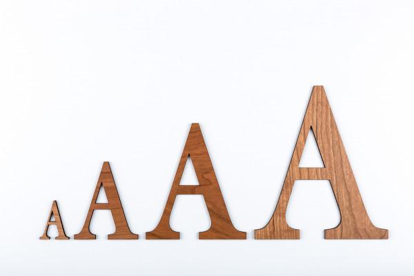 Holzbuchstaben Kirsche