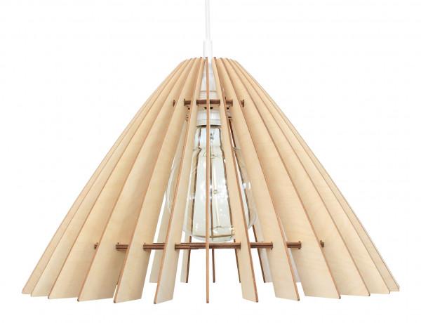 Holz Pendelleuchte Schirmlampe E27 wodewa