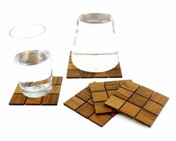 Untersetzer Holz Teak 5 teiliges Set