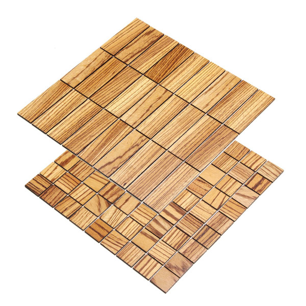 wodewa Holzmosaik Fliese Zebrano Wandverkleidung